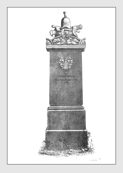 Grab der Familie Weinrich auf dem Alten Südfriedhof München. Abbildung aus: Auswahl der vorzüglichsten Denkmäler des Münchner Kirchhofes. 2. Band. München, 1841.