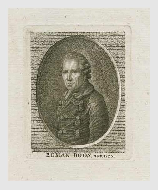 Roman Anton Boos, ca. 1780. Porträtsammlung des Münchner Stadtmuseums.