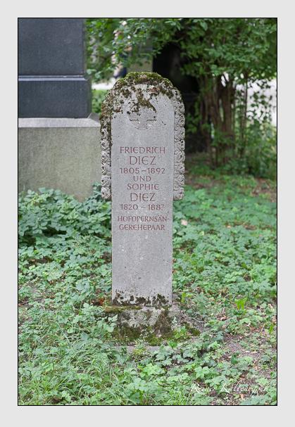 Grab der Familie Diez auf dem Alten Südfriedhof München (Juli 2007)