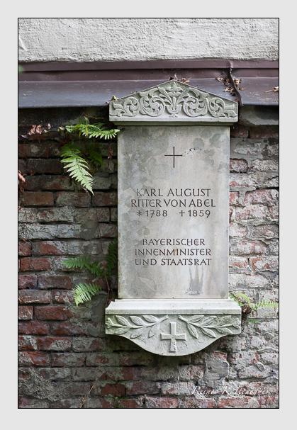 Grab der Familie Abel auf dem Alten Südfriedhof München (Oktober 2007)