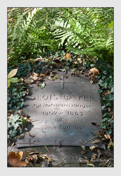 Grab der Familie Bayer auf dem Alten Südfriedhof München (Oktober 2007)