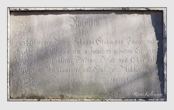 Grab der Familie Fugger auf dem Alten Südfriedhof München (Februar 2008)