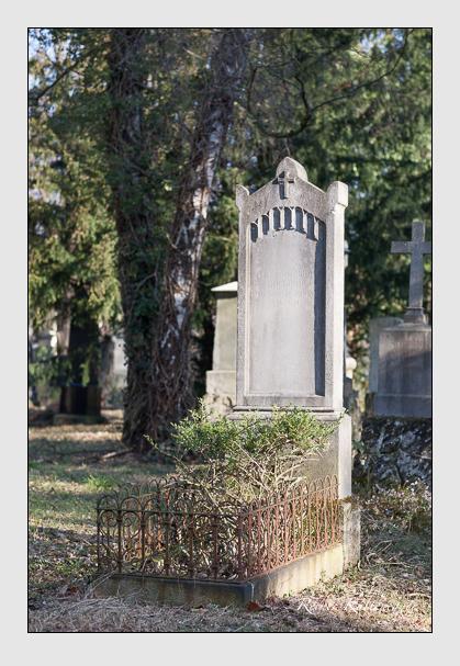 Grab der Familie Rockinger auf dem Alten Südfriedhof München (Februar 2008)