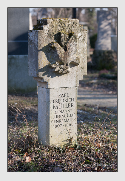 Grab der Familie Müller auf dem Alten Südfriedhof München (Februar 2008)