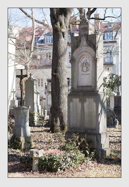 Grab der Familie Schlagintweit auf dem Alten Südfriedhof München (Februar 2008)