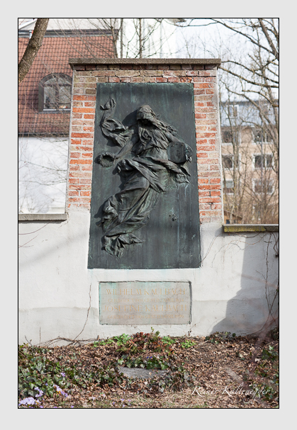 Grab der Familie Kaulbach auf dem Alten Südfriedhof München (Februar 2008)
