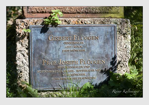 Grab der Familien Flüggen & Sonntag auf dem Alten Südfriedhof München (August 2008)