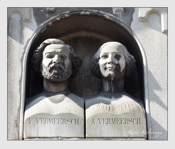 Grab der Familie Vermeersch auf dem Alten Südfriedhof München (März 2010)