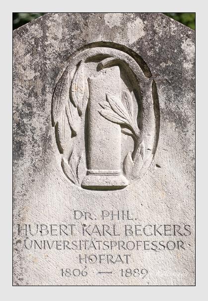 Grab der Familie Beckers auf dem Alten Südfriedhof München (August 2011)