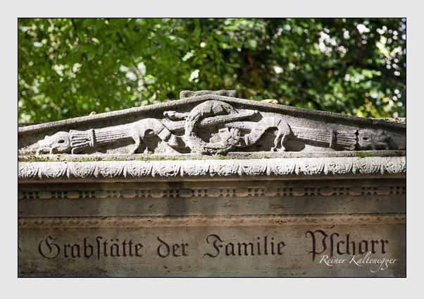 Grab der Familie Pschorr auf dem Alten Südfriedhof München (November 2011)