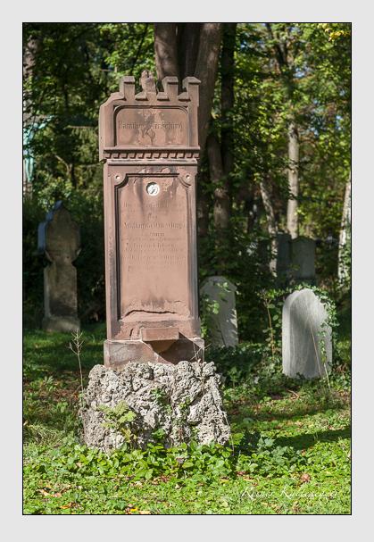 Grab der Familie Würsching auf dem Alten Südfriedhof München (Oktober 2011)
