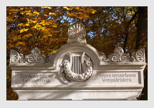 Gedenkstätte des Akademischen Gesangsvereins auf dem Alten Südfriedhof München (November 2011)