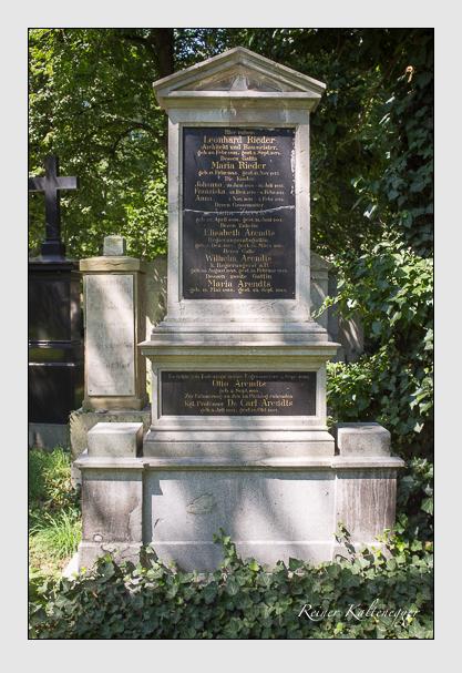 Grab der Familien Arendts & Rieder & Zweck auf dem Alten Südfriedhof München (August 2012)