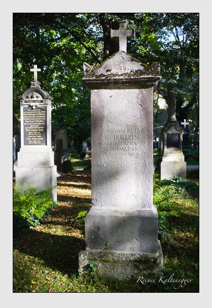 Grab der Familie Beierlein auf dem Alten Südfriedhof München (Oktober 2012)
