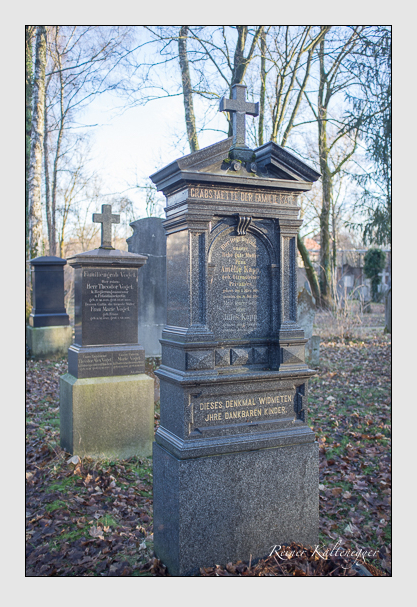 Grab der Familie Kapp auf dem Alten Südfriedhof München (Dezember 2012)