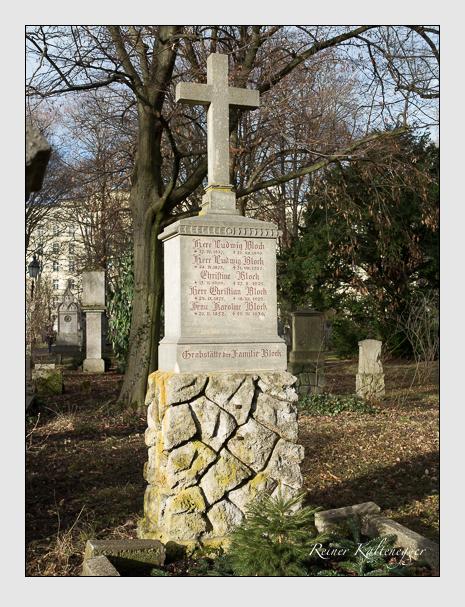 Grab der Familie Block auf dem Alten Südfriedhof München (Januar 2014)