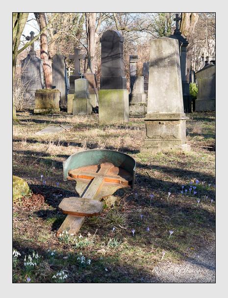 Grab der Familie Klotz auf dem Alten Südfriedhof München (Februar 2014)