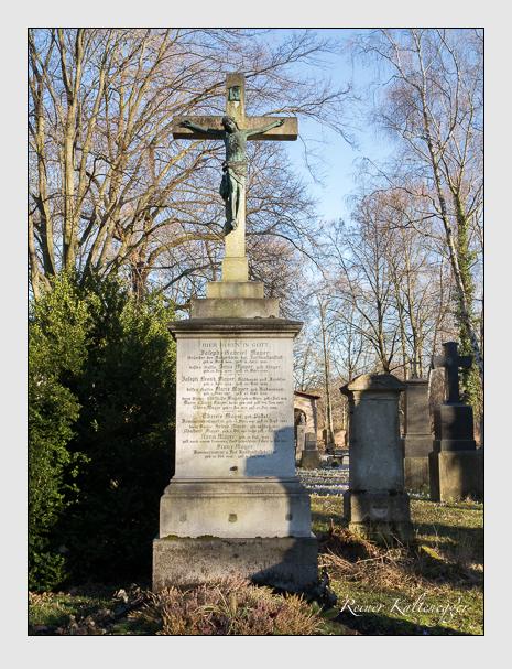 Grab der Familie Mayer auf dem Alten Südfriedhof München (Februar 2014)