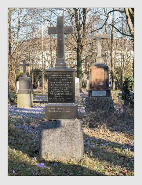 Grab der Familie Landes auf dem Alten Südfriedhof München (Februar 2014)
