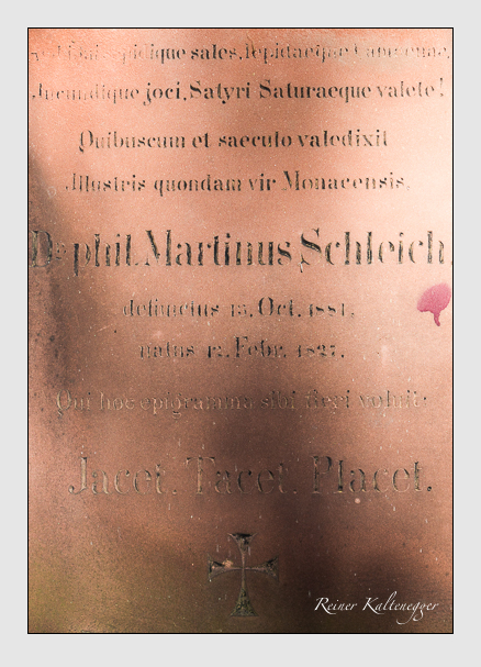 Grab der Familie Schleich auf dem Alten Südfriedhof München (Februar 2014)