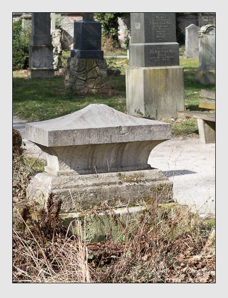 Grab der Familie Seidl auf dem Alten Südfriedhof München (März 2014)