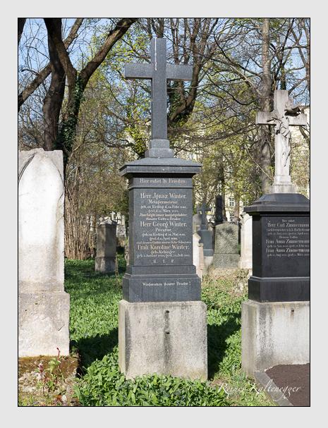Grab der Familie Winter auf dem Alten Südfriedhof München (März 2014)