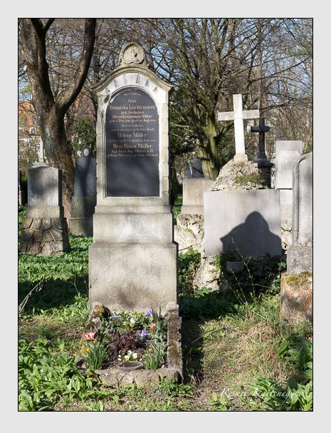 Grab der Familien Leichtenstern & Müller auf dem Alten Südfriedhof München (März 2014)