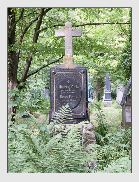 Grab der Familie Peetz auf dem Alten Südfriedhof München (Juni 2014)