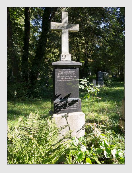 Grab der Familien Dorfmüller & Maurer auf dem Alten Südfriedhof München (September 2014)