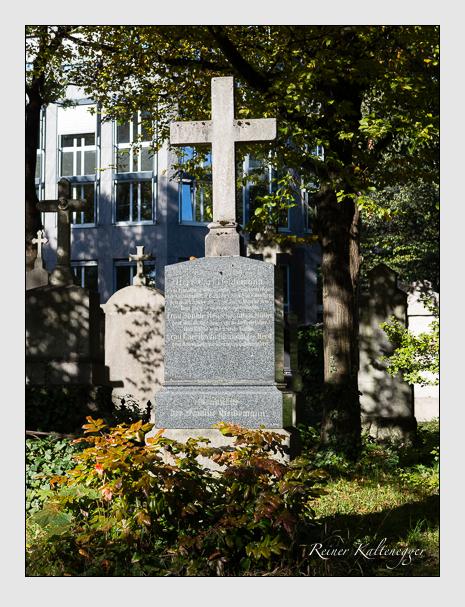 Grab der Familien Heidemann & Waldmann auf dem Alten Südfriedhof München (Oktober 2014)