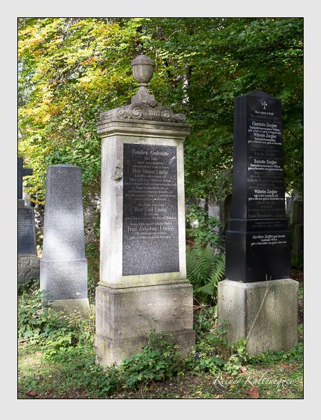 Grab der Familie Lindig auf dem Alten Südfriedhof München (Oktober 2014)