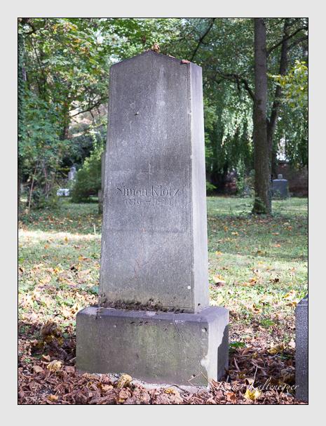 Grab der Familie Klotz auf dem Alten Südfriedhof München (Oktober 2014)
