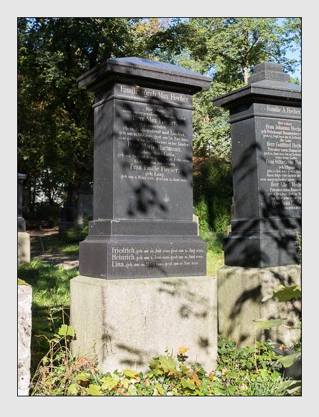Grab der Familien Fischer · Hartmann auf dem Alten Südfriedhof München (Oktober 2014)