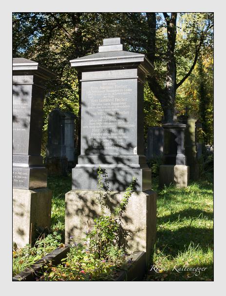 Grab der Familie Fischer auf dem Alten Südfriedhof München (Oktober 2014)