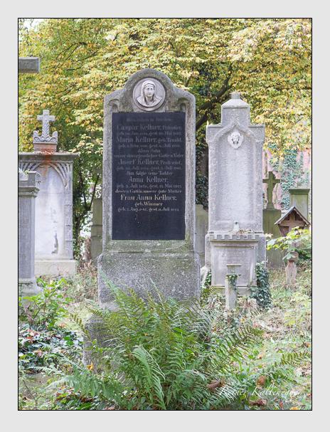 Grab der Familie Kellner auf dem Alten Südfriedhof München (Oktober 2014)