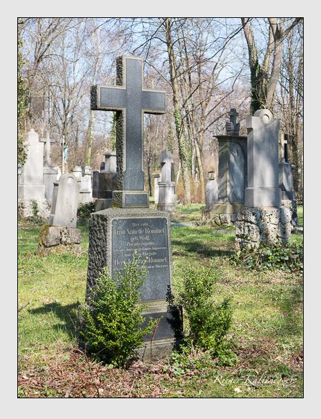 Grab der Familie Rommel auf dem Alten Südfriedhof München (April 2015)