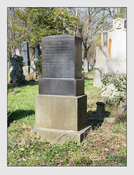Grab der Familie Hofstetter auf dem Alten Südfriedhof München (April 2015)