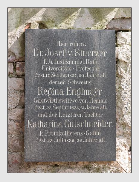 Grab der Familien Englmayr · Gutschneider · Stürzer auf dem Alten Südfriedhof München (April 2015)