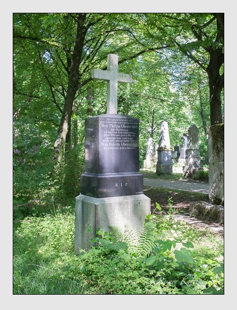 Grab der Familie Oberseider auf dem Alten Südfriedhof München (Juni 2015)