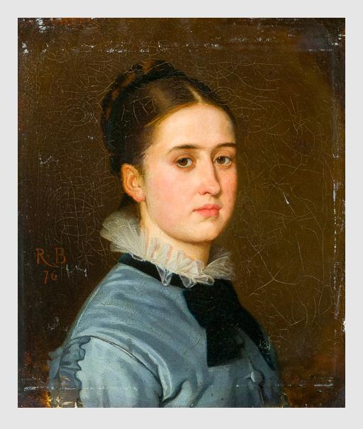 Robert Julius Beyschlag: Frauenportrait. 1876. MutualArt Services, Inc.