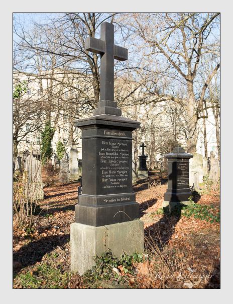 Grab der Familie Spenger auf dem Alten Südfriedhof München (Dezember 2015)