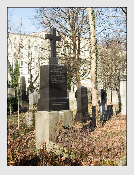 Grab der Familie Beck auf dem Alten Südfriedhof München (Dezember 2015)