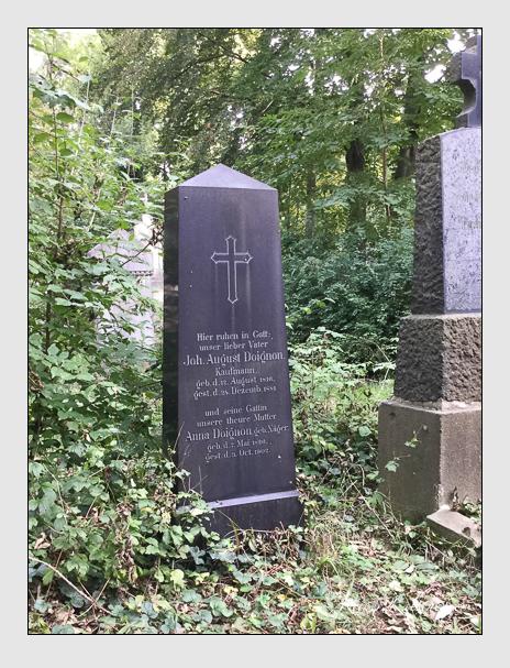 Grab der Familie Doignon auf dem Alten Südfriedhof München (Oktober 2016)