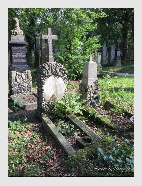 Grab der Familien Baun & Laudemann auf dem Alten Südfriedhof München (Oktober 2016)