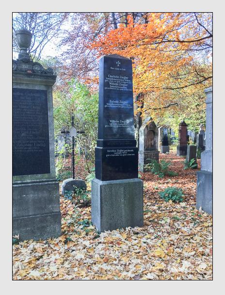 Grab der Familien Pracher & Staudacher & Ziegler auf dem Alten Südfriedhof München (Oktober 2016)