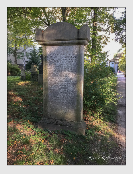 Grab der Familie Adlmann auf dem Alten Südfriedhof München (Oktober 2016)