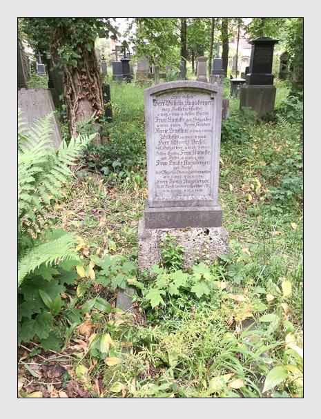 Grab der Familien Augsberger & Dresel auf dem Alten Südfriedhof München (Oktober 2016)