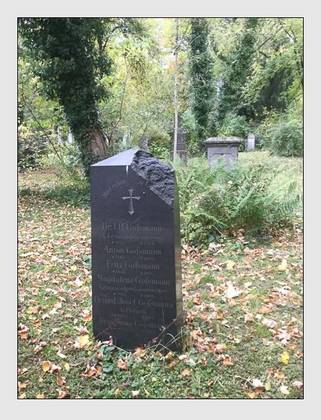 Grab der Familie Goßmann auf dem Alten Südfriedhof München (Oktober 2017)