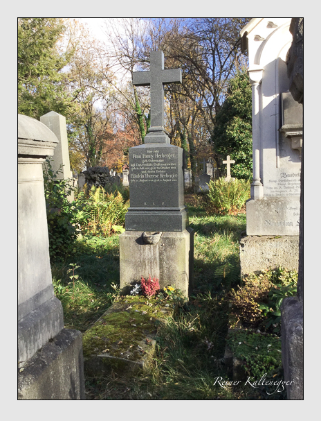 Grab der Familie Herberger auf dem Alten Südfriedhof München (Dezember 2017)