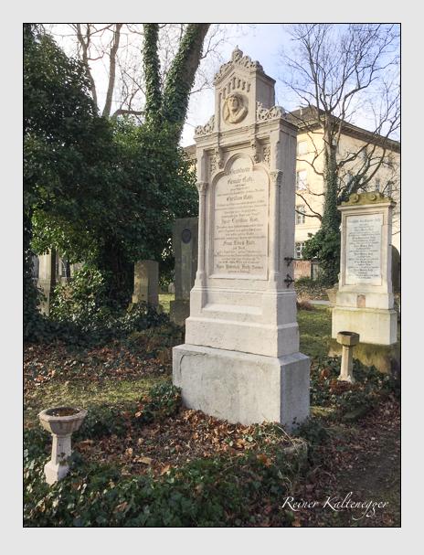 Grab der Familie Kotz auf dem Alten Südfriedhof München (Dezember 2017)